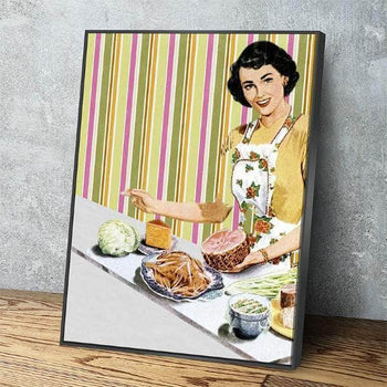 Vintage Kitchen and Dining Room Wall Decor Canvas Set