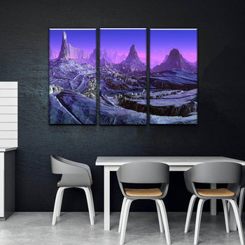 Violet Space Canvas Set