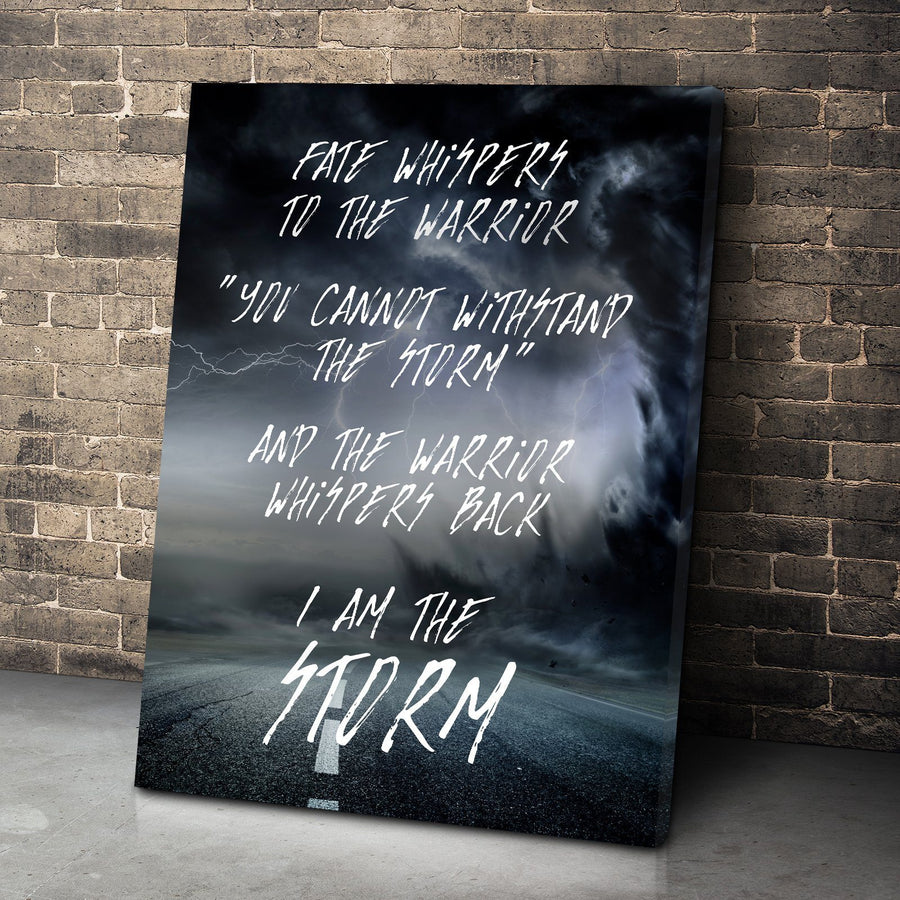 Warrior and the Storm Canvas Set
