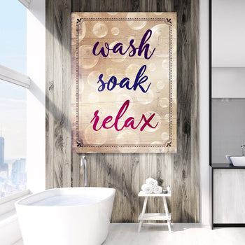 Wash, Soak, Relax Canvas Set