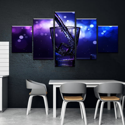 Water Fill Kitchen and Dining Room Wall Decor Canvas Set