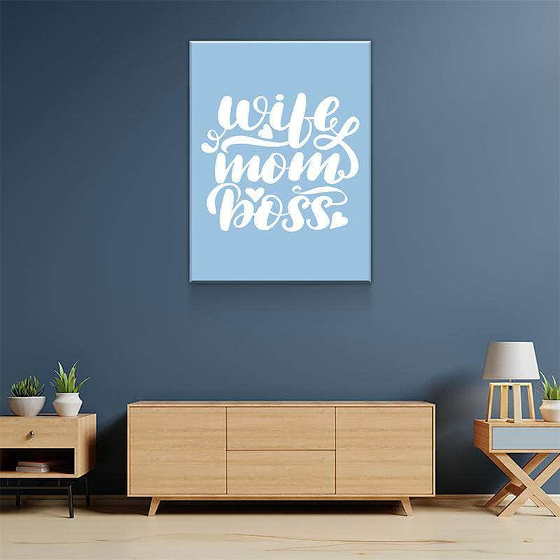 Wife Mom Boss Canvas Set