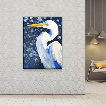 Winter Egret Canvas Set
