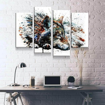 Wolf Splash Canvas Set