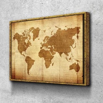 World Map No14 Canvas Set