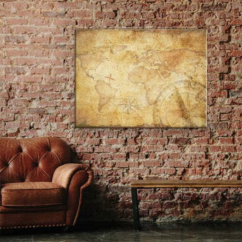 World Map No32 Canvas Set