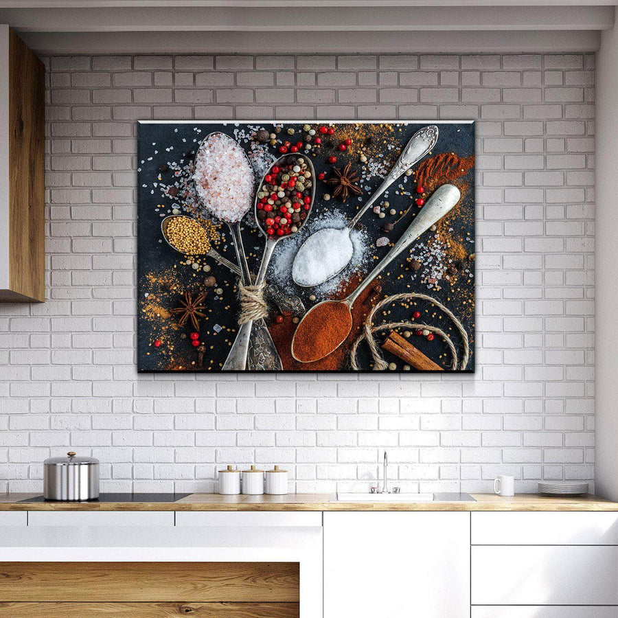 Spices and Life Kitchen and Dining Room Wall Decor Canvas Set
