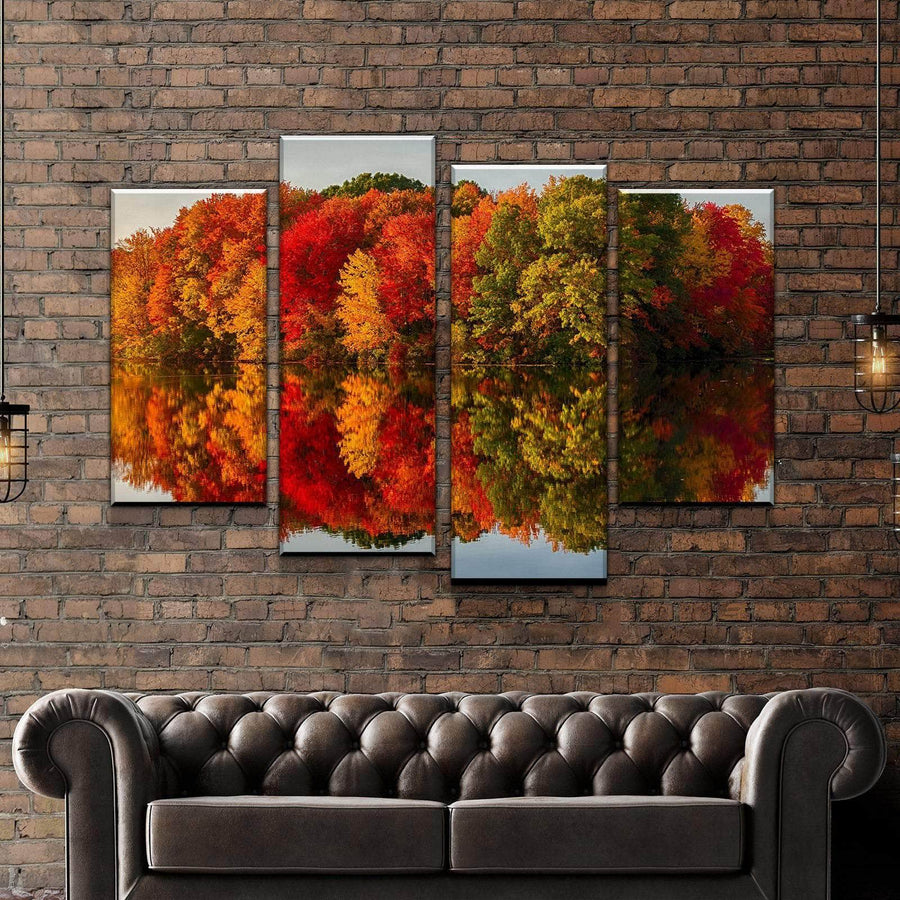 Autumn's Trees Canvas Set