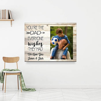 One Of a Kind DAD Custom Canvas Set
