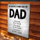 My Greatest Pains Call Me DAD Custom Canvas Set