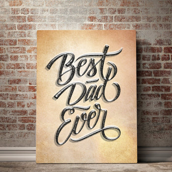 Best Dad Ever Father's Day Canvas Set