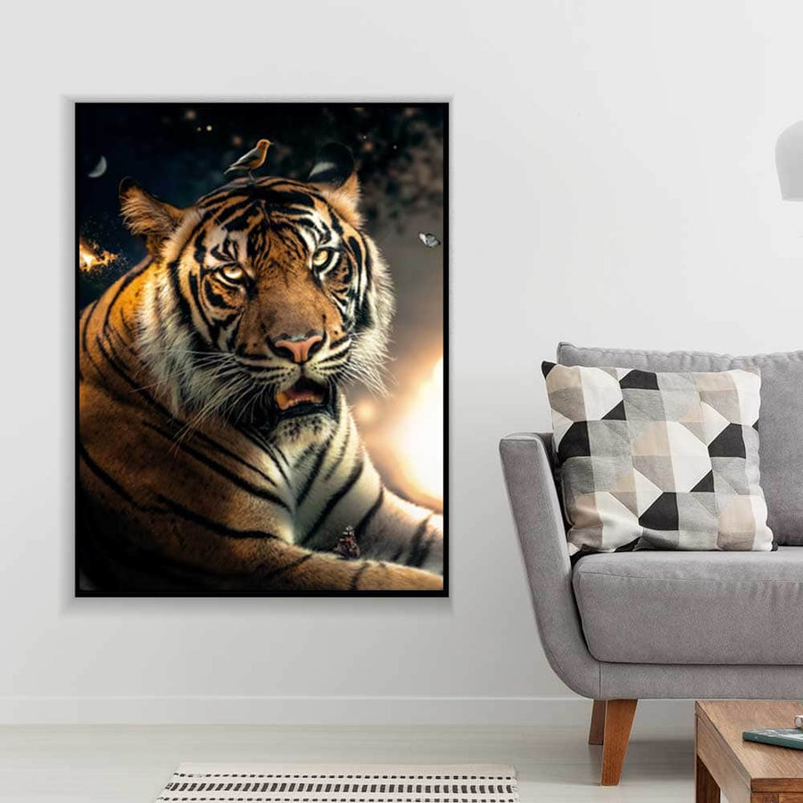 Tiger Bird Head Canvas Set