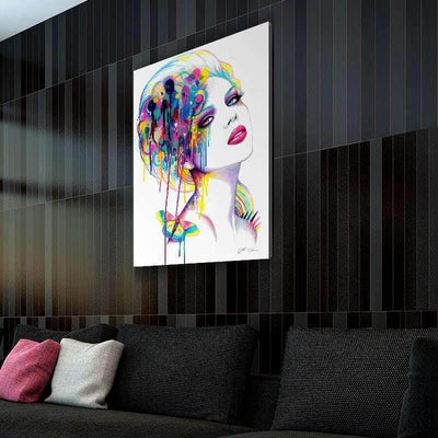 Woman With Butterfly Canvas Set