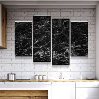 Black Marble Canvas Set