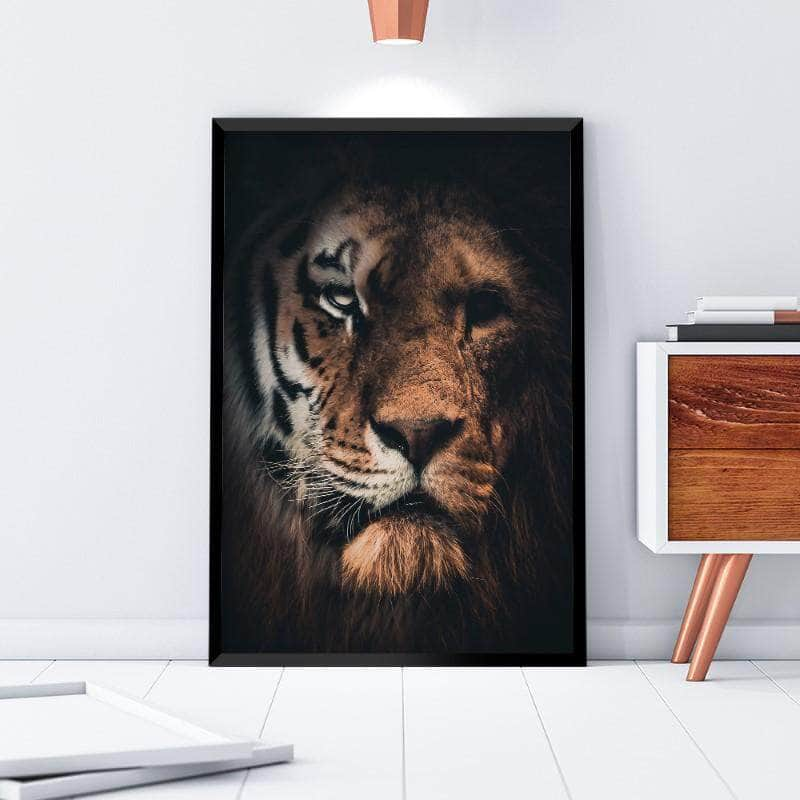 Tiger Lion Canvas Set