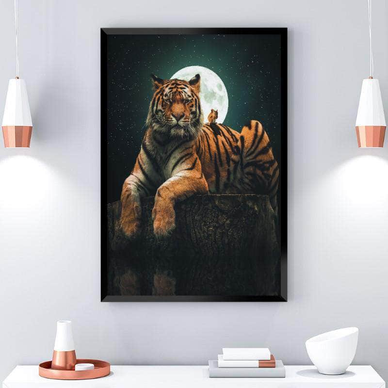 Tiger and Squirrel Canvas Set