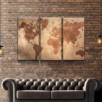 World Map No27 Canvas Set
