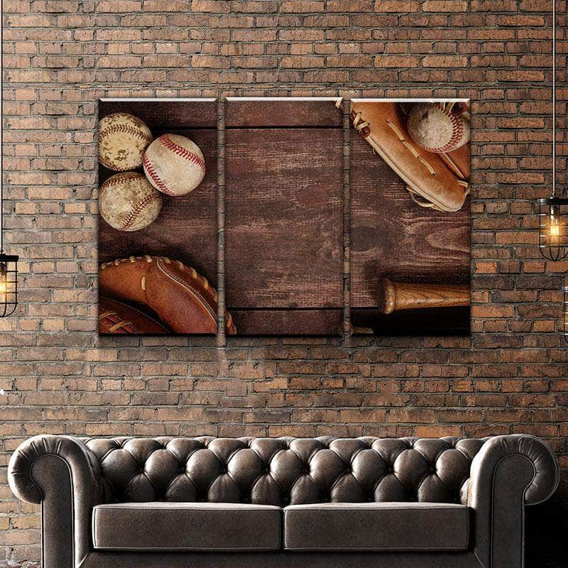 Baseball Vintage Canvas Set