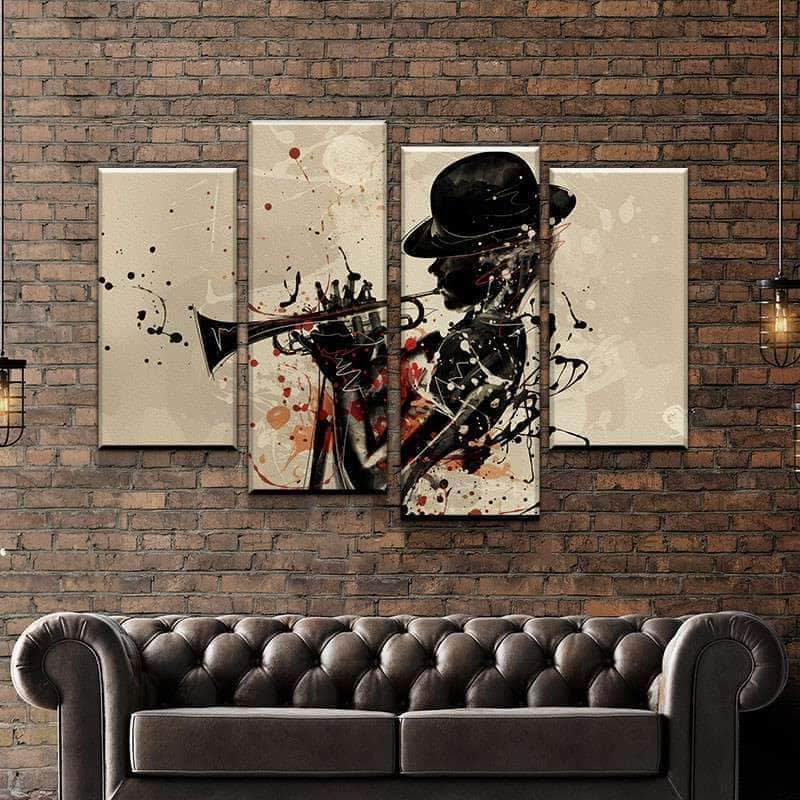 Splash of Jazz Canvas Set