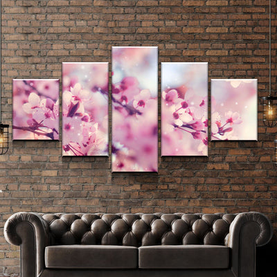 Pink Blossom Canvas Set