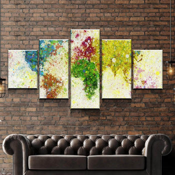 World Map No18 Canvas Set