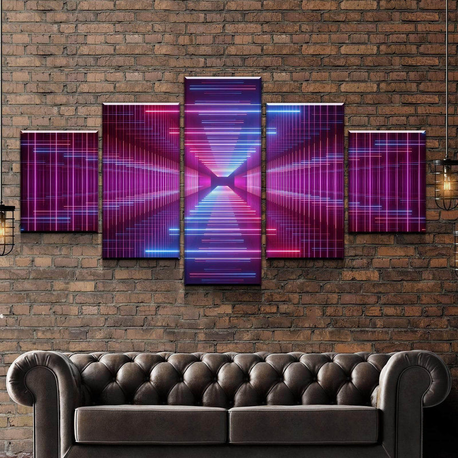 Infinity LED Mirror Canvas Set