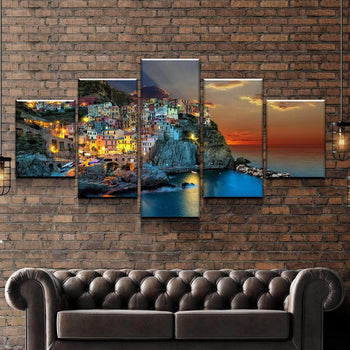 Manarola Village Canvas Set