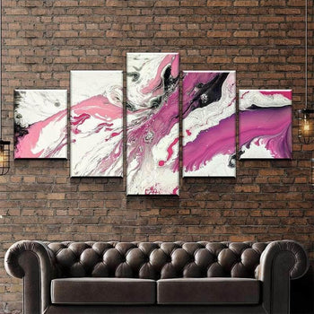 Pink Granite Canvas Set
