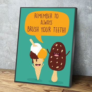 Brush Your Teeth Canvas Set