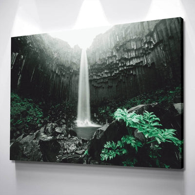 Charcoal Waterfall Canvas Set