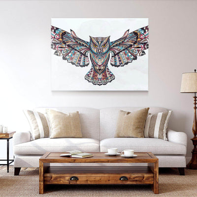 Native Indian Owl Canvas Set
