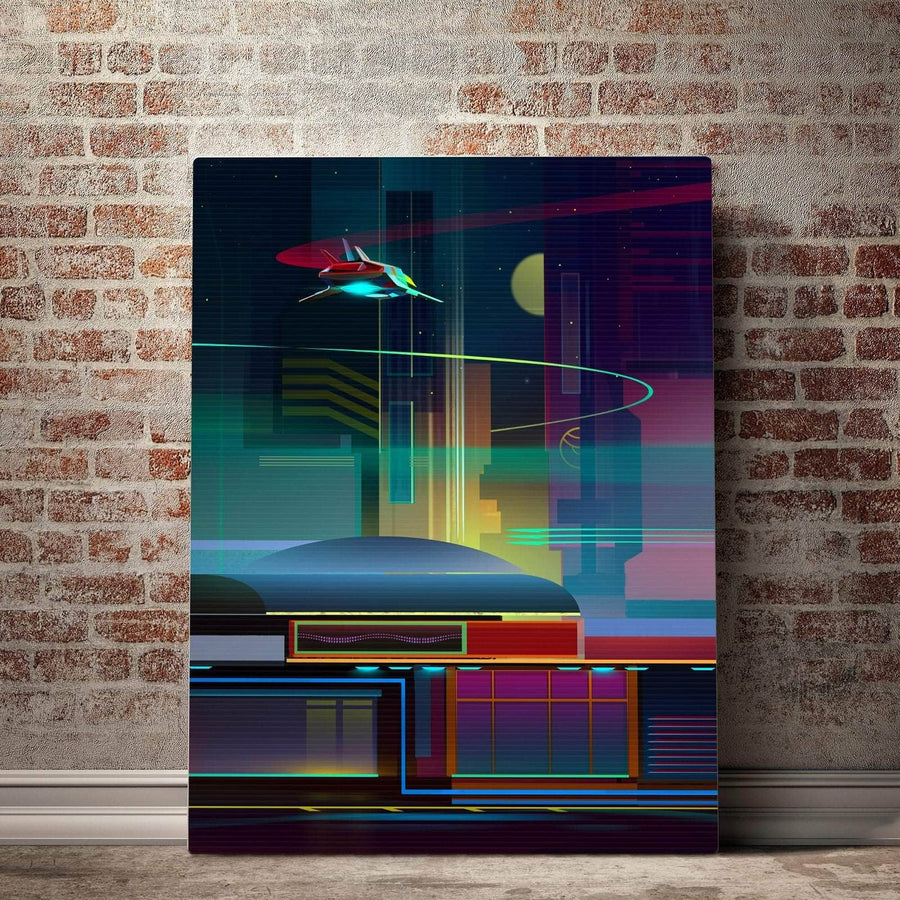 Cyber Cafe Canvas Set