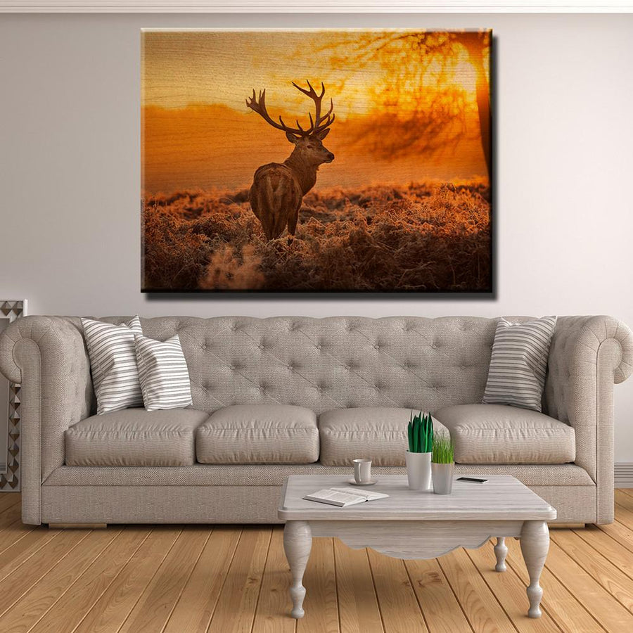 Wooden wall art decor canvas freaks red deer sunset wooden wall decor amipublicfo Image collections