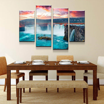 Morning Waterfall Canvas Set