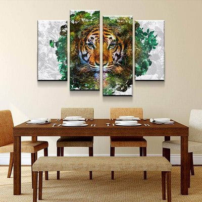 Tiger Habitat Canvas Set