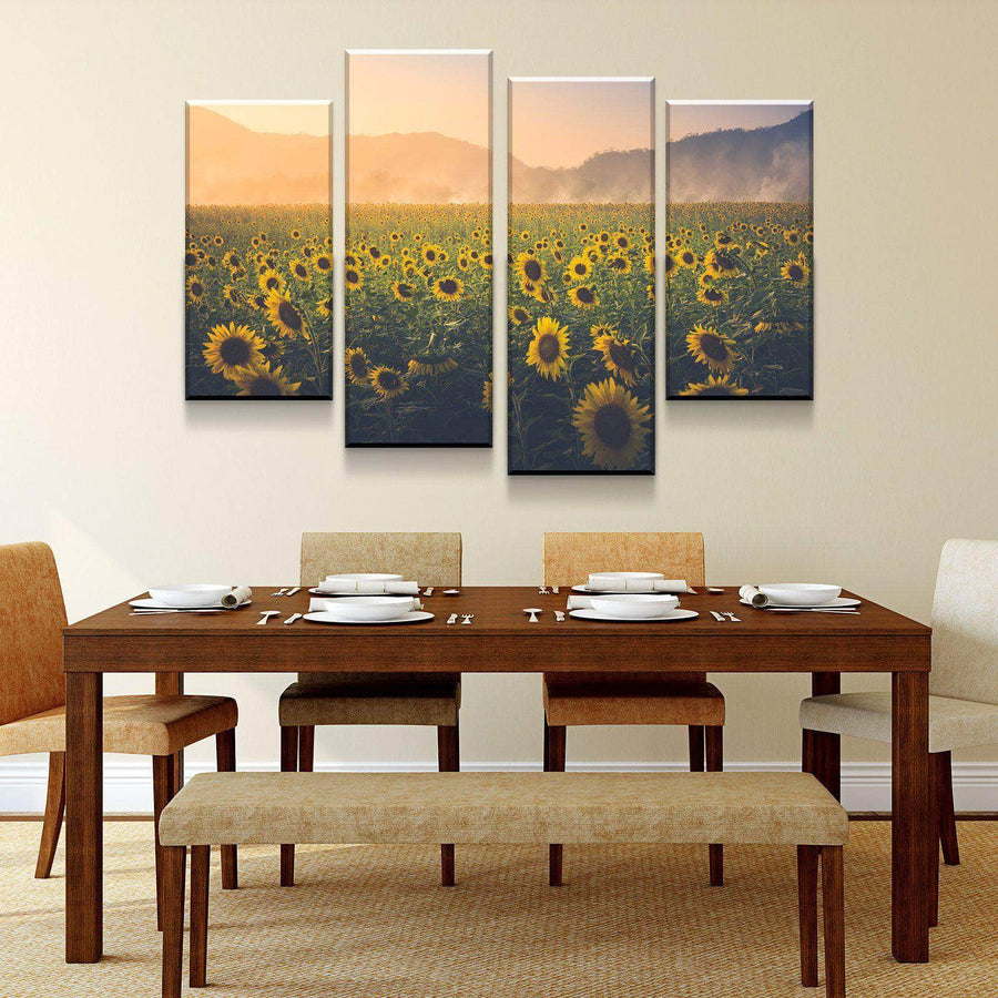 Sunflower Twilight Canvas Set