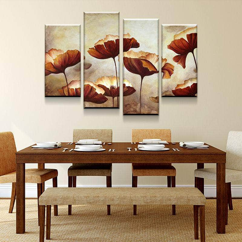 Open Flowers Canvas Set