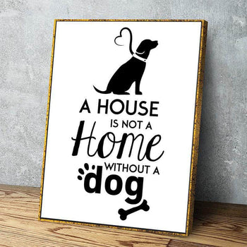 Dog Home 11 x 14 Canvas Set