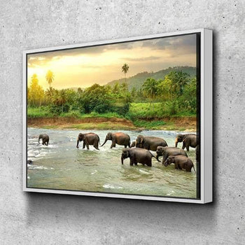 Elephant Riverwalk  Canvas Set