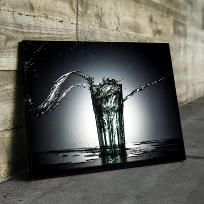 Fill up your Glass Kitchen and Dining Room Wall Decor Canvas Set