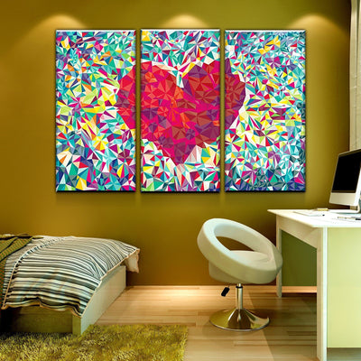 Fragmented Heart Canvas Set