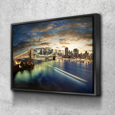 NY After Sunset Canvas Set