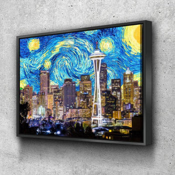 Seattle Starry Night Canvas Set