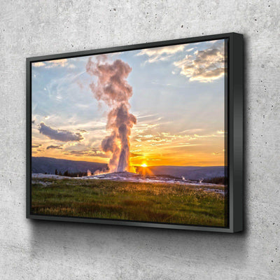 Yellowstone Geyser Canvas Set
