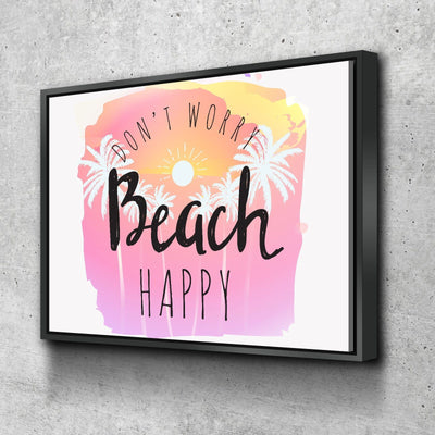 Beach Happy 11 x 14 Canvas Set (Free Shipping)