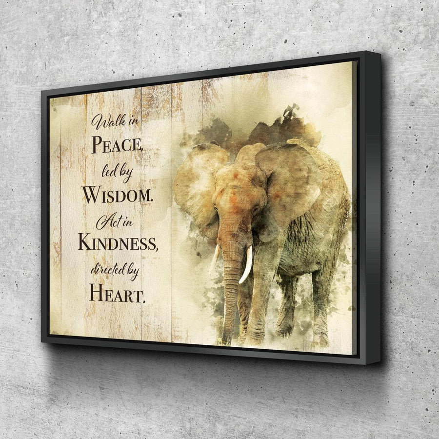 Elephant Wisdom Quote Canvas Set