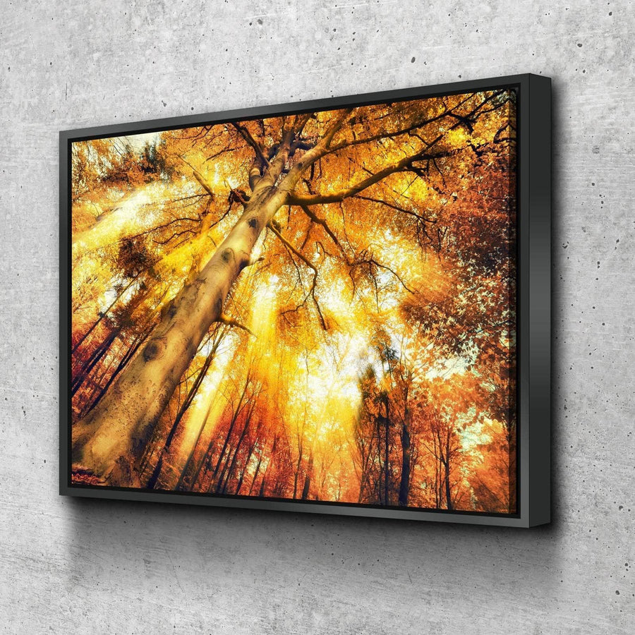 Vibrant Autumn Forest Canvas Set