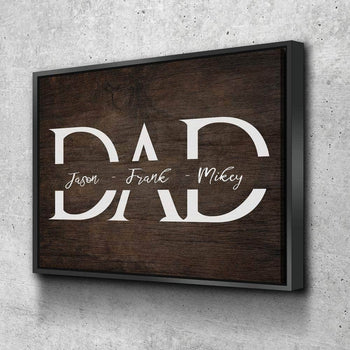 Father and Kids Custom Canvas Set