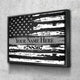 Custom Personalized Thin Silver Line Canvas Set
