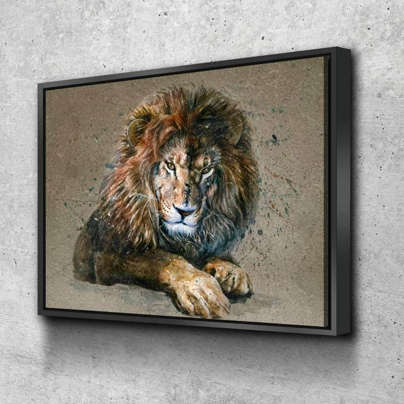 Brown Lion Canvas Set
